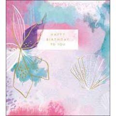 verjaardagskaart the proper mail company - happy birthday - roze