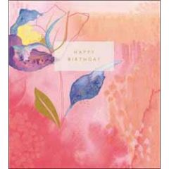 verjaardagskaart the proper mail company - happy birthday - roze oranje