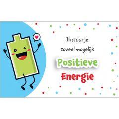 wenskaart - ik stuur je zoveel mogelijk positieve energie - batterij