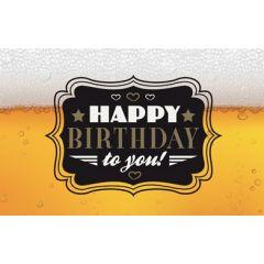 verjaardagskaart - happy birthday to you! - bier