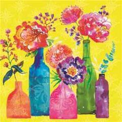wenskaart clare maddicott - bloemen in vazen