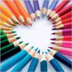 verjaardagskaart rapture - potloden - hart