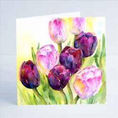 wenskaart sheila gill - tulpen