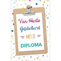 wenskaart - van harte gefeliciteerd met je diploma