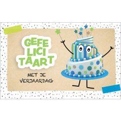wenskaart - gefelicitaart - met je verjaardag