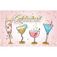 wenskaart - gefeliciteerd - cocktails