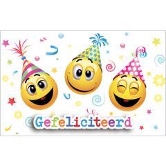 wenskaart - gefeliciteerd - emoji's