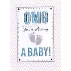 wenskaart inspired - omg you're having a baby!