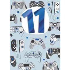 11 jaar - wenskaart inspired - gamen