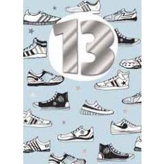 13 jaar - wenskaart inspired - schoenen