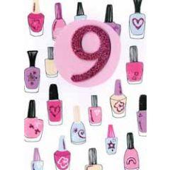 9 jaar - verjaardagskaart inspired - nagellak