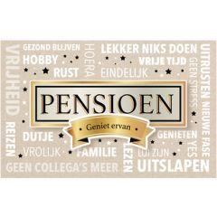 wenskaart - pensioen geniet ervan