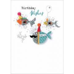 wenskaart - birthday wishes - vissen