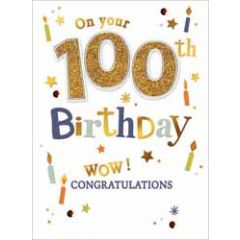 100 jaar - wenskaart - on your 100th birthday - congratulations