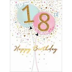 18 jaar - wenskaart - 18th happy birthday