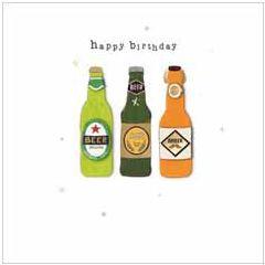 verjaardagskaart - happy birthday - bier
