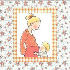 wenskaart zwangerschap pauline oud - moeder met zoon
