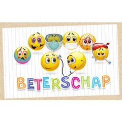 beterschapskaart - beterschap - emoji's