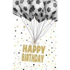 verjaardagskaart - happy birthday - voetbal ballonnen