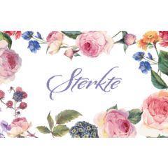 wenskaart - sterkte - rozen