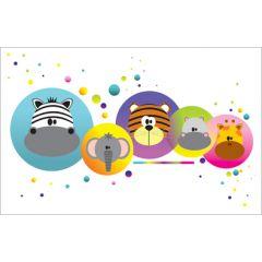 wenskaart - cirkels met dieren