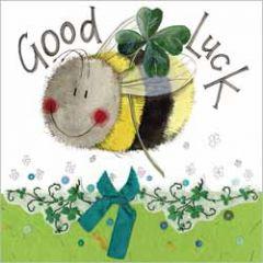 wenskaart alex clark - good luck - bij