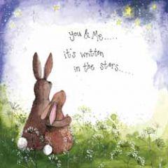 wenskaart alex clark - it's written in the stars - hazen