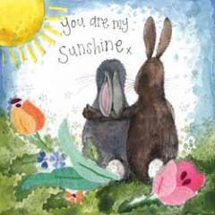 wenskaart alex clark - you are my sunshine - hazen