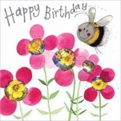 wenskaart alex clark - happy birthday - bij