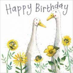 wenskaart alex clark - happy birthday - ganzen