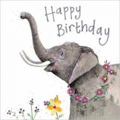 wenskaart alex clark - happy birthday - olifant