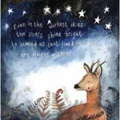 wenskaart alex clark - even in the darkest skies the stars shine bright - hert