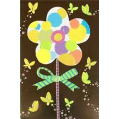 wenskaart busquets - bloem en vlinders