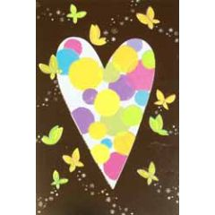 wenskaart busquets - hart en vlinders