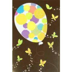 wenskaart busquets - ballon en vlinders