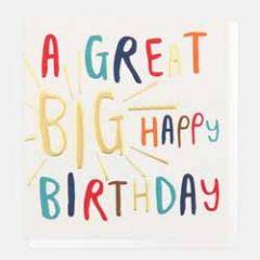 verjaardagskaart caroline gardner - a great big happy birthday