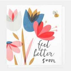 beterschapskaart caroline gardner - feel better soon - bloemen