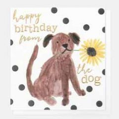 verjaardagskaart caroline gardner - happy birthday from the dog