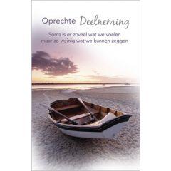condoleancekaart - oprechte deelneming - boot