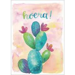 wenskaart dreams - hoera! - cactus