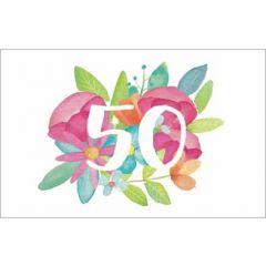 wenskaart dreams - 50 - bloemen