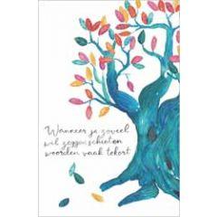 wenskaart dreams - wanneer je zoveel wil zeggen schieten woorden vaak tekort - boom