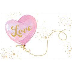 wenskaart golden touch - love - hartballon