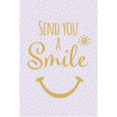 wenskaart golden touch - send you a smile