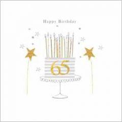 65 jaar - luxe wenskaart gold leaf - 65 happy birthday