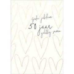 50 jaar gouden jubileum - wenskaart adorable - 50 jaar gelukkig samen
