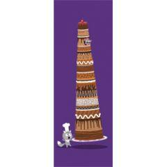 grote kaart 1/2 a4 correspondances - kat en taart