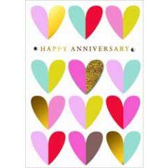 felicitatiekaart ...jaar getrouwd - happy anniversary