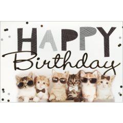 verjaardagskaart - happy birthday - katten