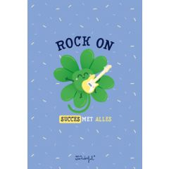 wenskaart mr. wonderful - rock on, succes met alles